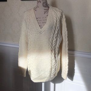 Sweaters - Oversized Cable Knit Sweater
